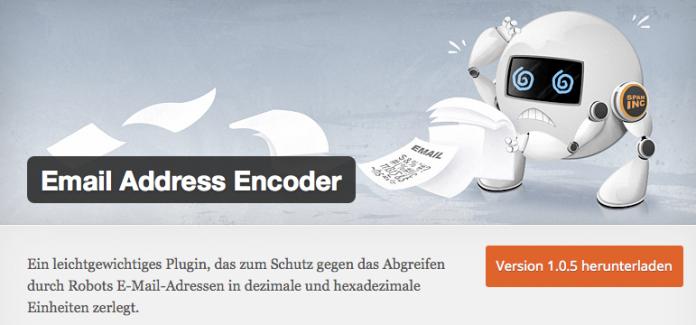 wordpress-sicherheit-email-encoder